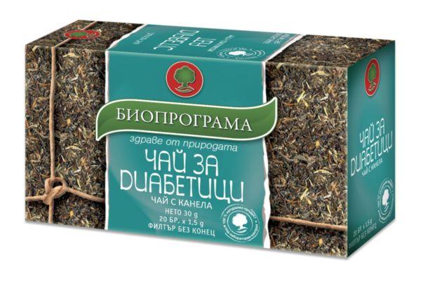 Чай при Диабет с Канела (Cinnamonum) филтър 20 бр. Биопрограма